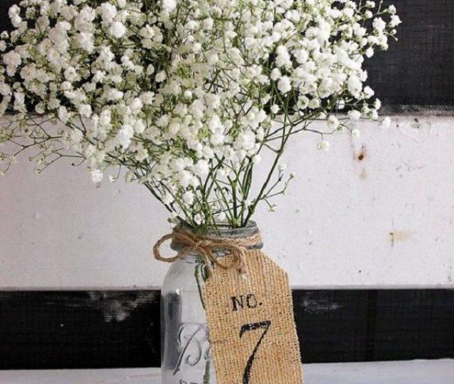 Burlap Wedding Table Centerpieces Table Number Ideas