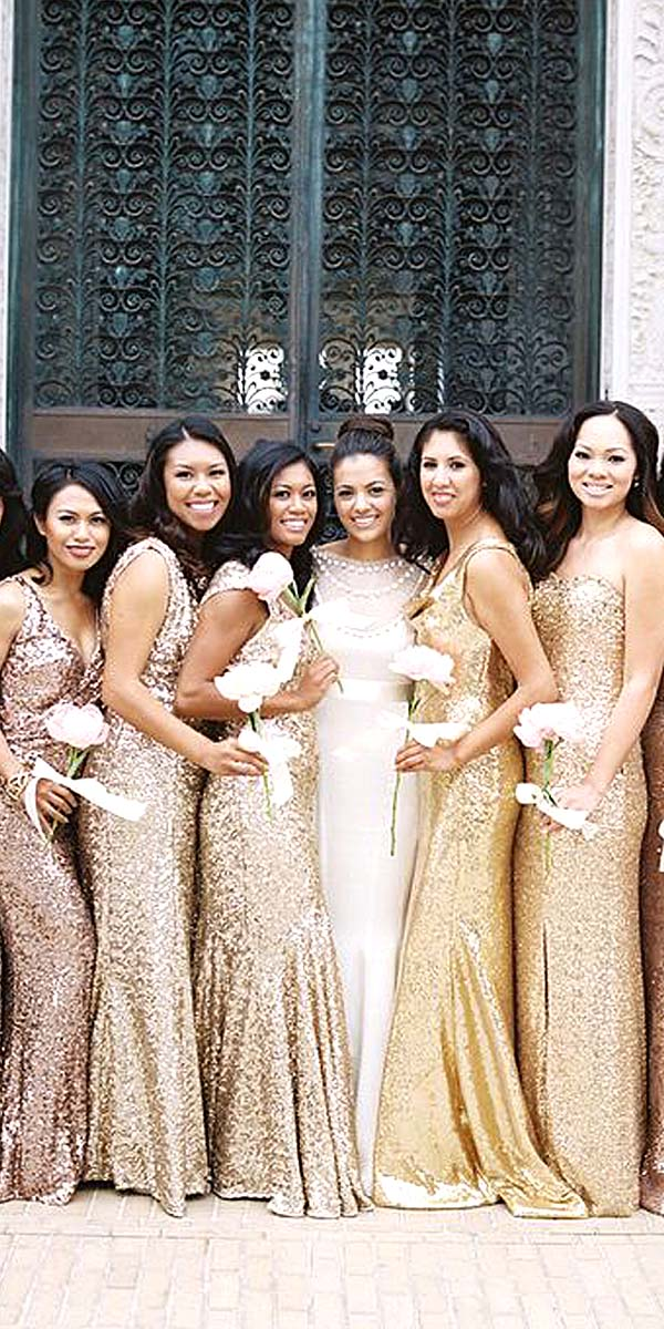 2016 Wedding Trends – Sequined And Metallic Bridesmaid