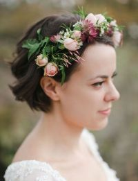 48 Chic Wedding Hairstyles for Short Hair | Deer Pearl Flowers