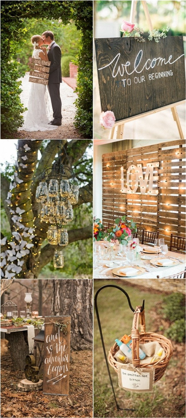 Rustic Wedding Decor Ideas  Country Wedding Themes  Deer