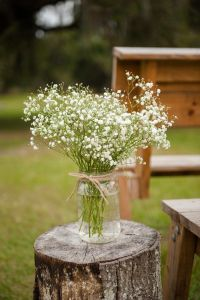 rustic country style wedding in a barn with cute details ...