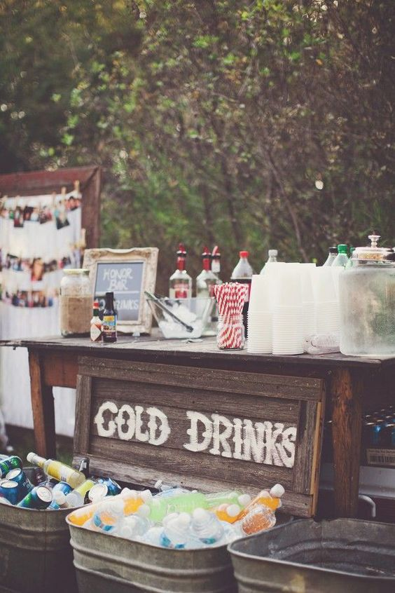 40 Creative Wedding Drink Bar  Station Decor Ideas  Deer Pearl Flowers