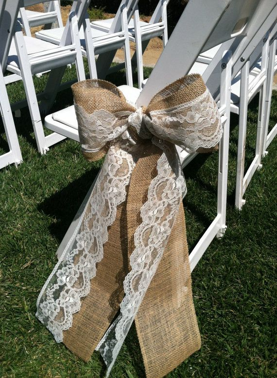 burlap bows for wedding chairs swing chair game 55 chic-rustic and lace ideas   deer pearl flowers
