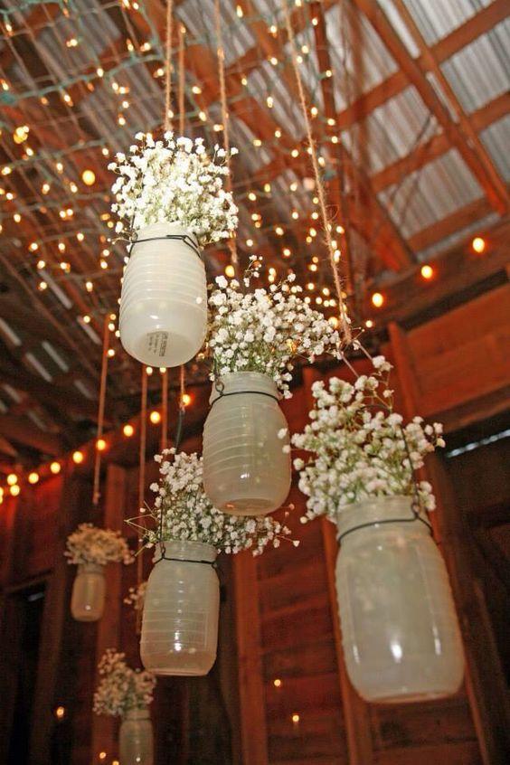 Rustic Wedding mason jar wedding decor ideas  Deer Pearl