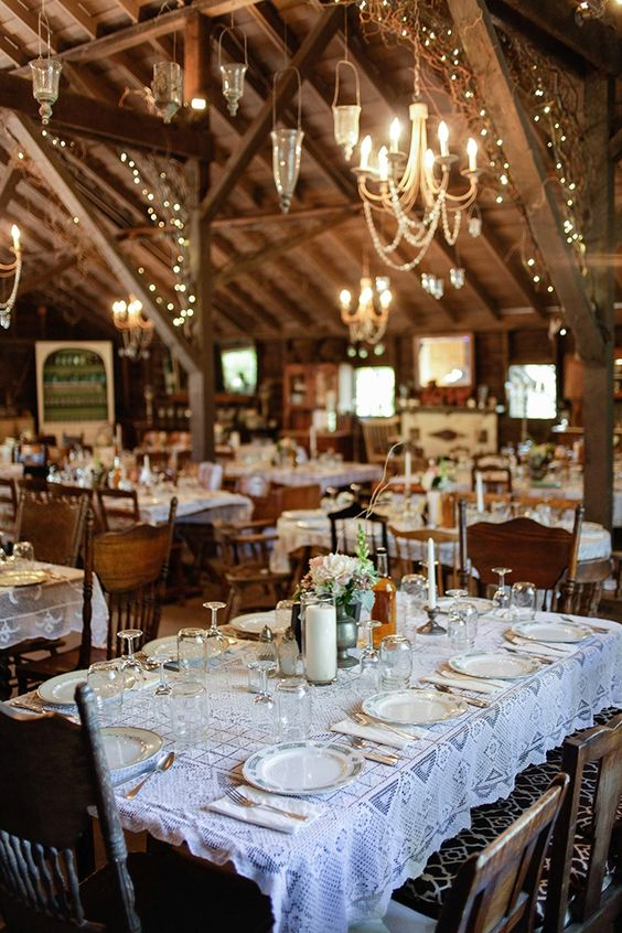 30 Barn Wedding Reception Table Decoration Ideas Deer