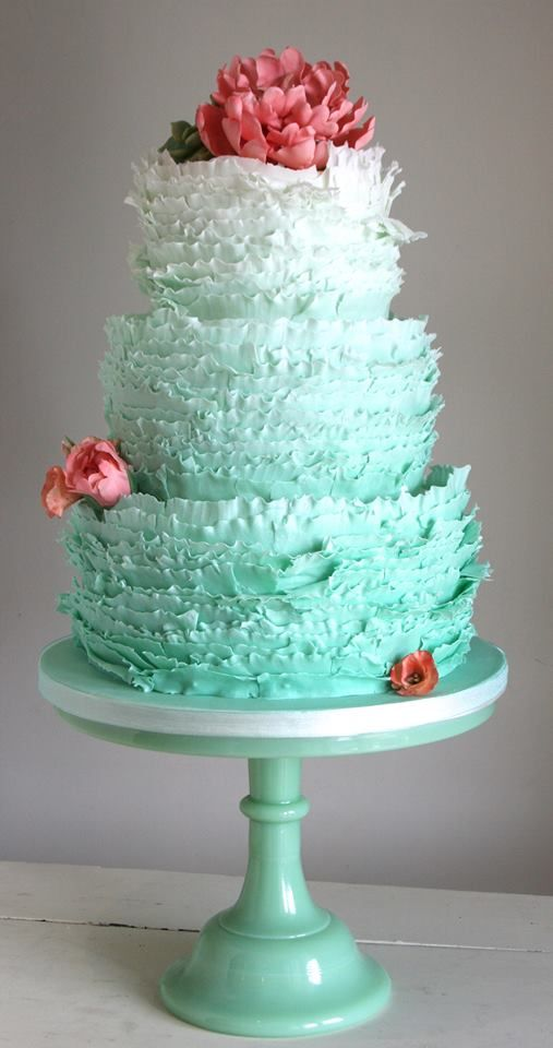 34 Delicate Ombre Wedding Cake Ideas from Pinterest  Deer Pearl Flowers