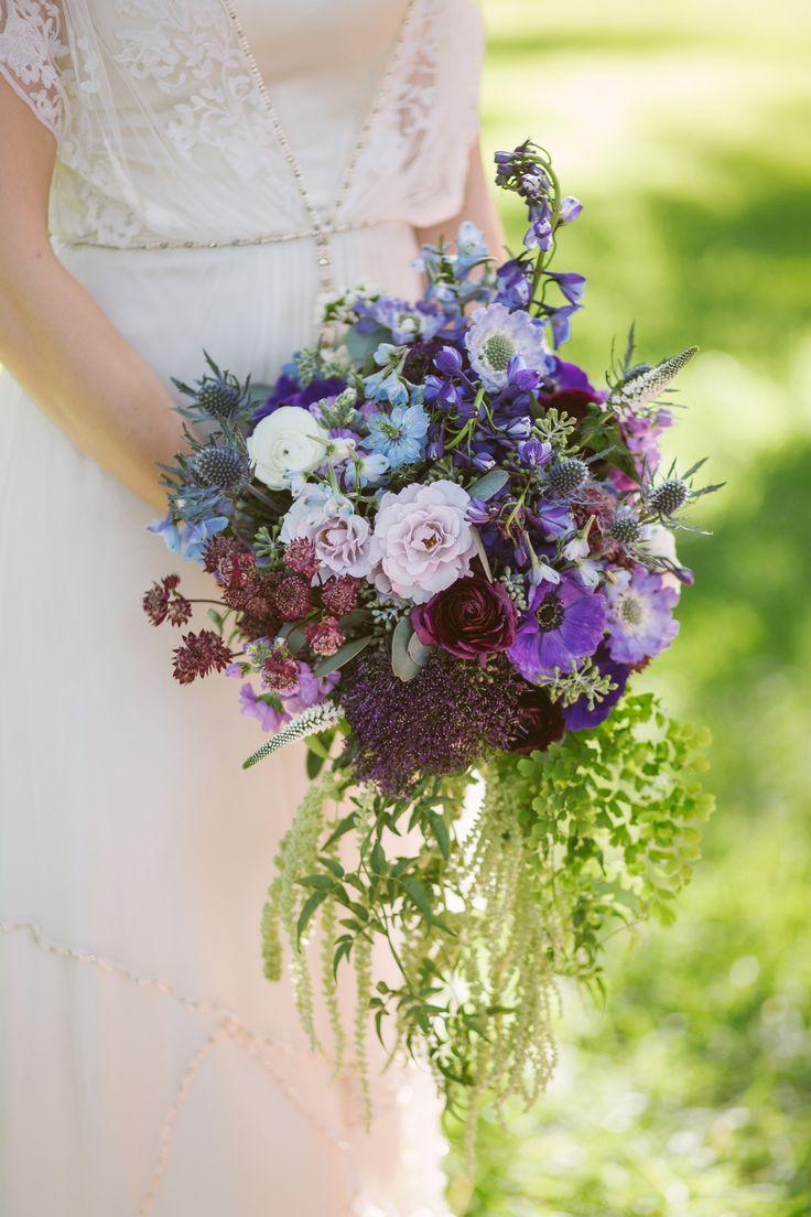 Purple wildflower wedding bouquet  Deer Pearl Flowers