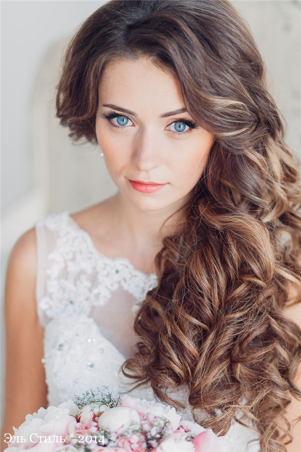 Top 20 Down Wedding Hairstyles For Long Hair Deer Pearl Flowers