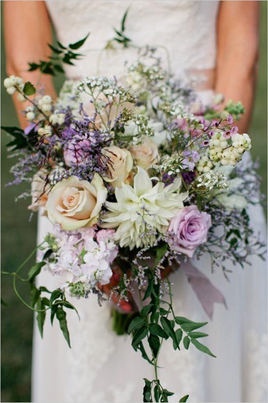 pastel boho bridal bouquet  Deer Pearl Flowers
