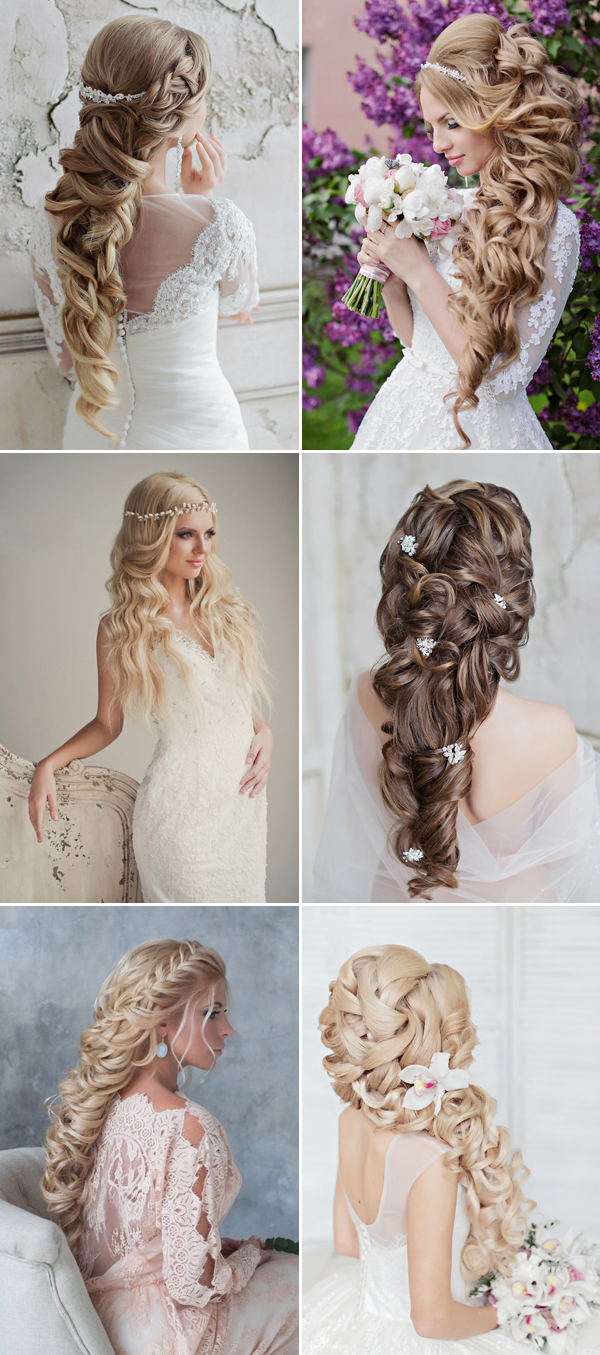 unique wedding hairstyles for long hair | deer pearl flowers