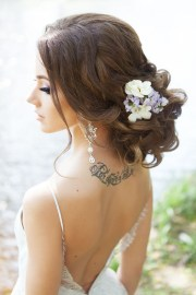beautiful updo wedding