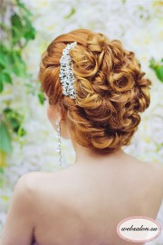 long curly updo wedding hairstyle