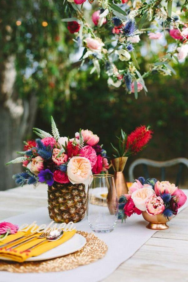 20 Pineapple Wedding Decor Ideas  Deer Pearl Flowers