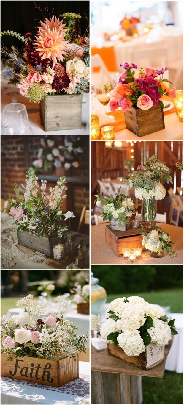20 Best Wooden Box Wedding Centerpieces for Rustic Weddings | Deer Pearl Flowers