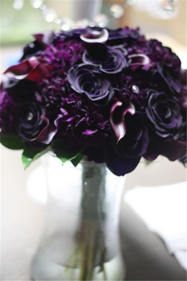 35 Dark Purple Wedding Color Ideas for FallWinter Weddings  Deer Pearl Flowers
