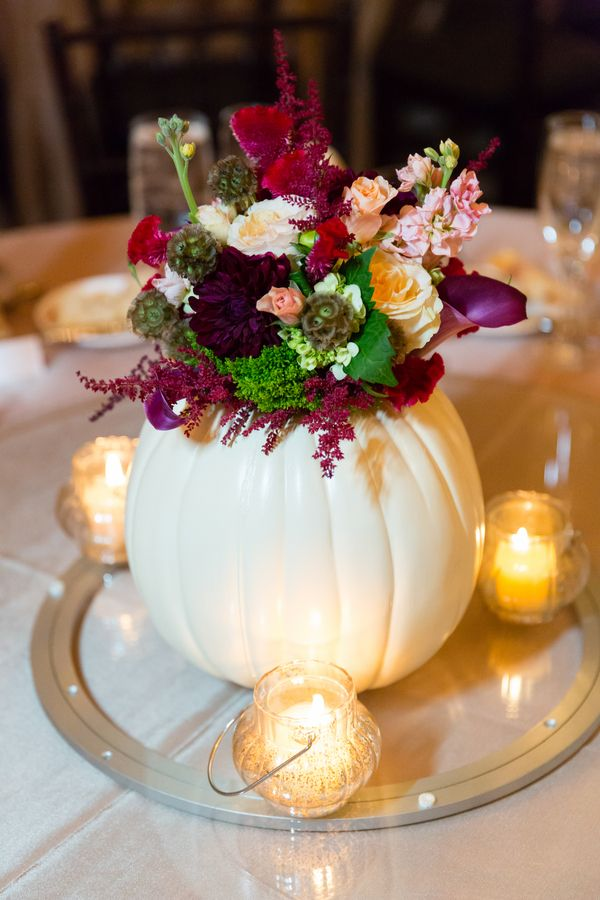 October Wedding Centerpieces