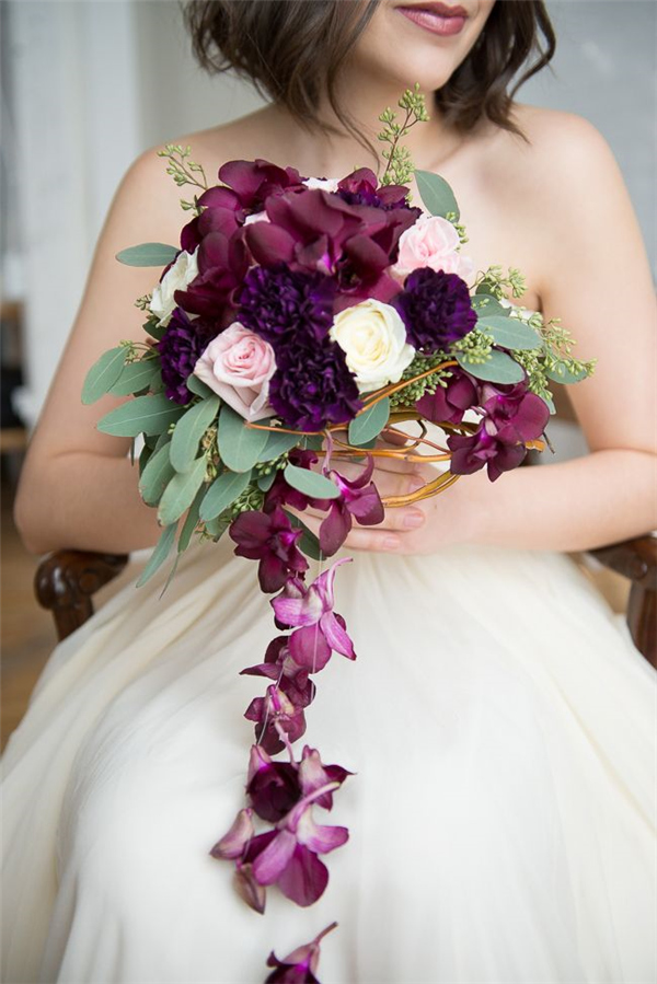 35 Dark Purple Wedding Color Ideas For FallWinter