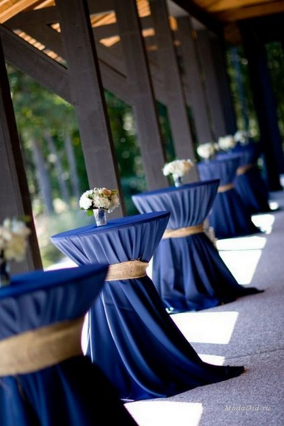 burlap chair covers ideas low leg recliner chairs 40 pretty navy blue and white wedding | deer pearl flowers