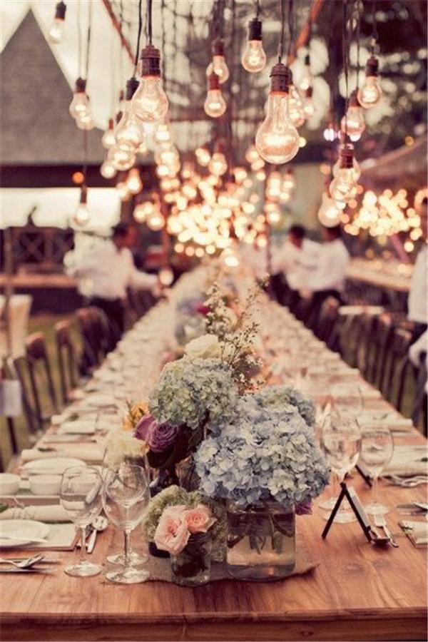 20 Stunning Rustic Edison Bulbs Wedding Decor Ideas  Deer