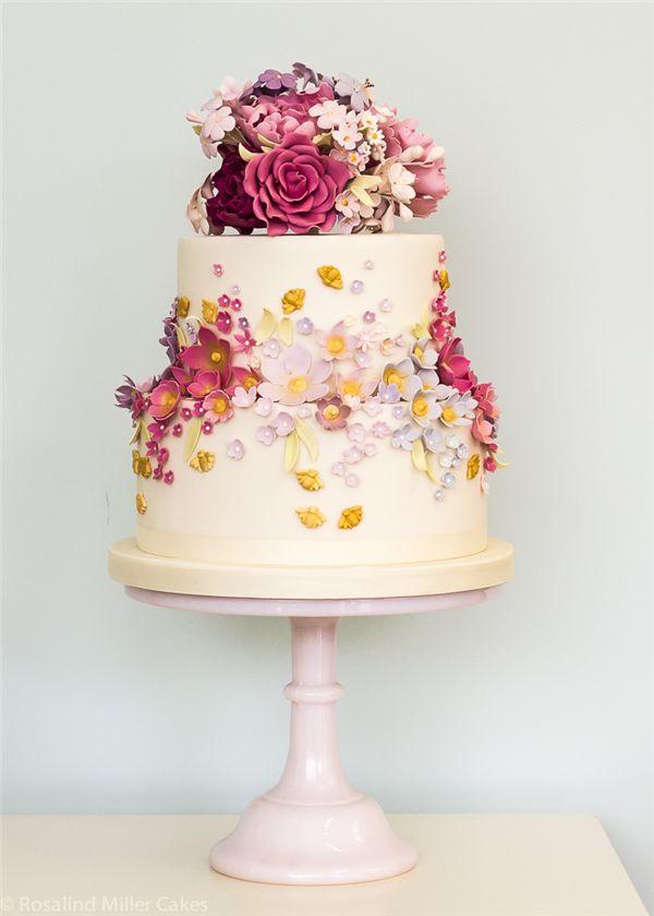 Rosalind Miller Sugar Flower Wedding Cake 2