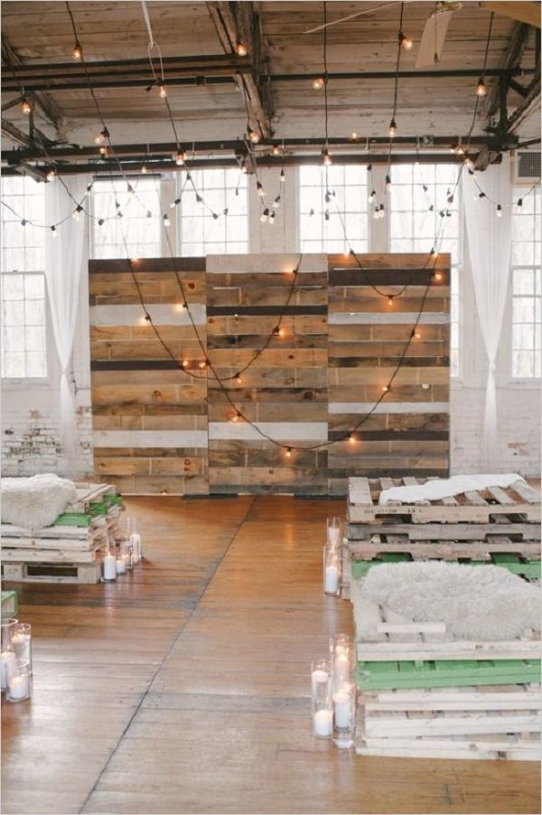 s rustic wood pallets in your wedding