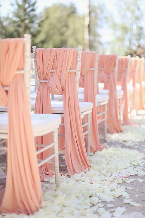 chair covers with pink bows mid century modern dining chairs 50 creative wedding decor fabric and ribbons | deer pearl flowers