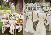 50 Creative Wedding Chair Decor with Fabric and Ribbons ...
