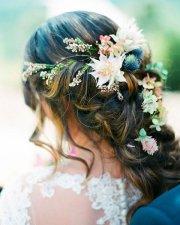 boho wedding hairstyle idea