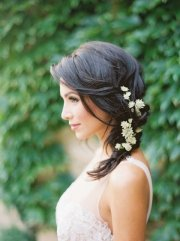 rustic medium wedding hairstyle