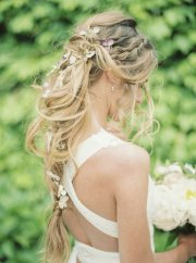 messy swooping braids boho wedding