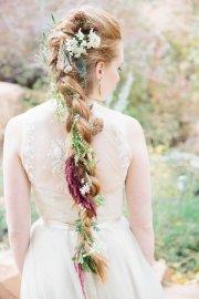 long boho braided wedding hairstyle