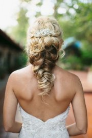 twisted fishtail braid updo wedding