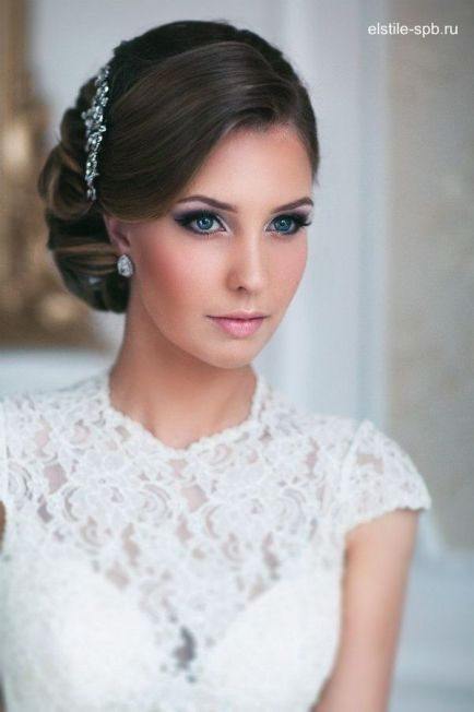 Long Wedding Hairstyles and Bridal Updo Hairstyles for Long Hair from elstile-spb 23