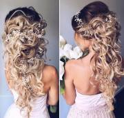 romantic long bridal wedding