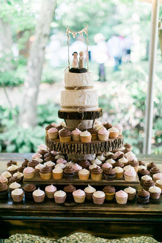 Rustic Wedding Cakes Cupcakes