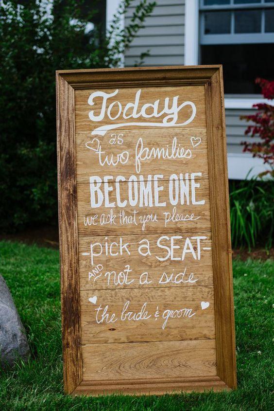30 Rustic Wedding Signs  Ideas for Weddings  Deer Pearl Flowers
