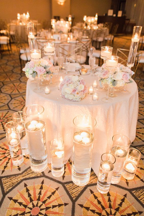 40 Chic Romantic Wedding Ideas Using Candles  Deer Pearl Flowers  Part 2