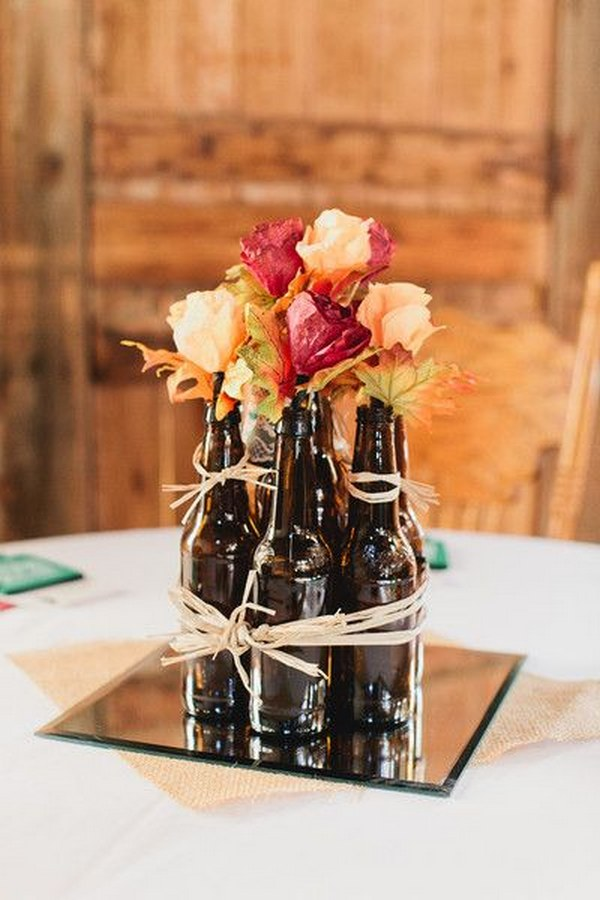 20 Wine Bottle Decor Ideas to Steal For Your Vineyard Wedding  Deer Pearl Flowers
