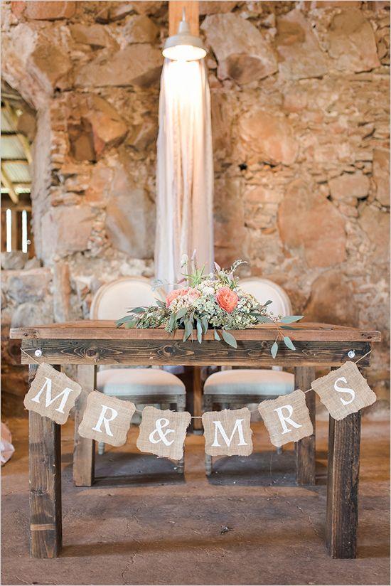 Rustic Sweetheart Table Wedding Ceremony Decor Deer