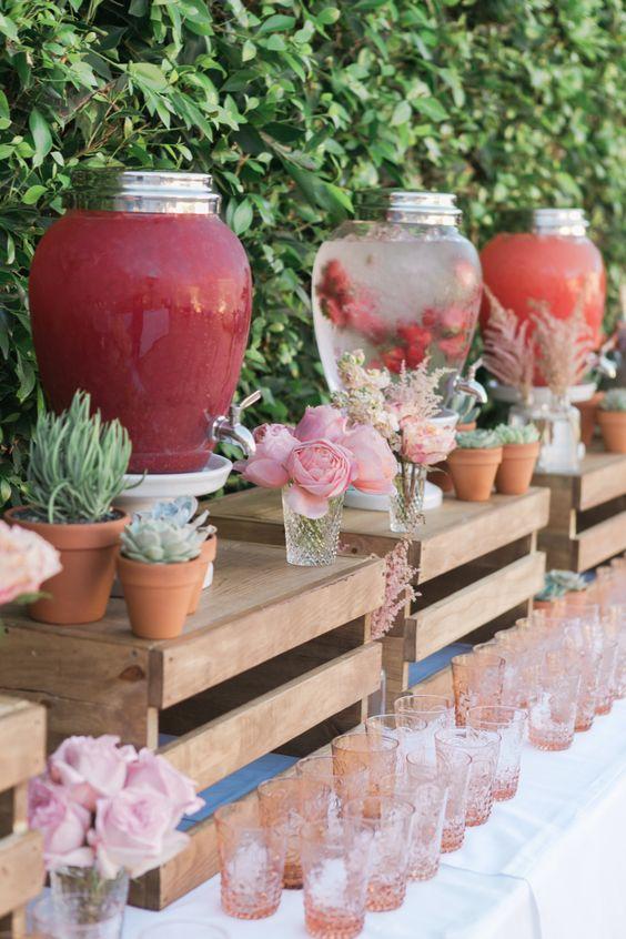 high top kitchen table set pendant lights for kitchens 40 creative wedding drink bar & station decor ideas | deer ...