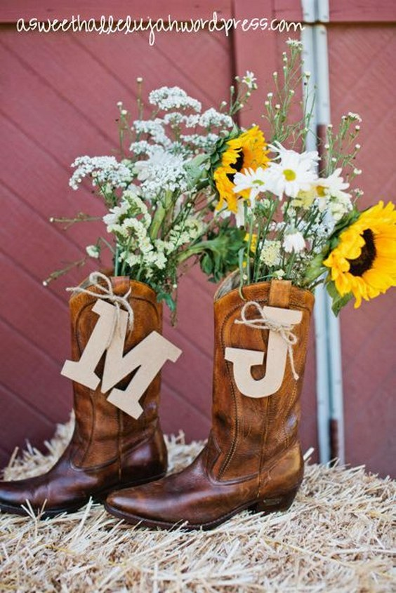 40 Rustic Country Cowgirl Boots Fall Wedding Ideas  Deer Pearl Flowers
