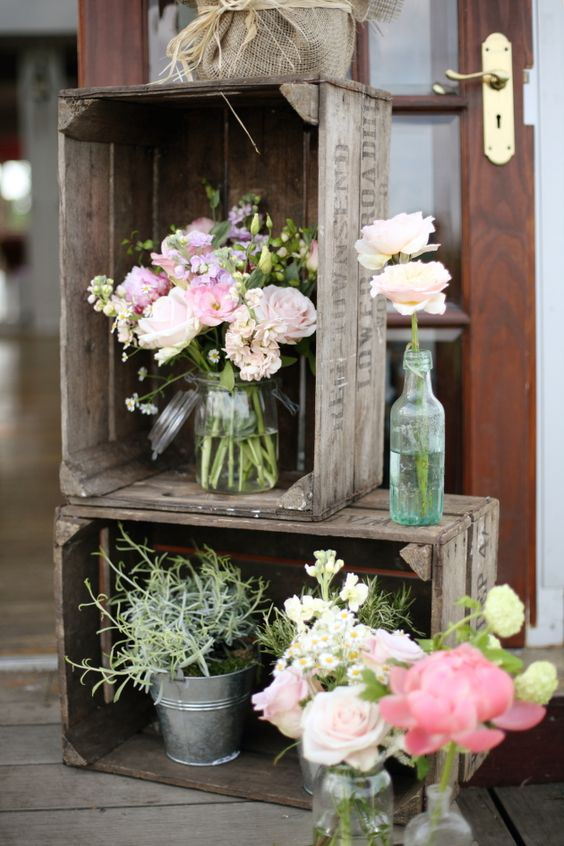 60 Rustic Country Wooden Crates Wedding Ideas  Deer Pearl Flowers  Part 2