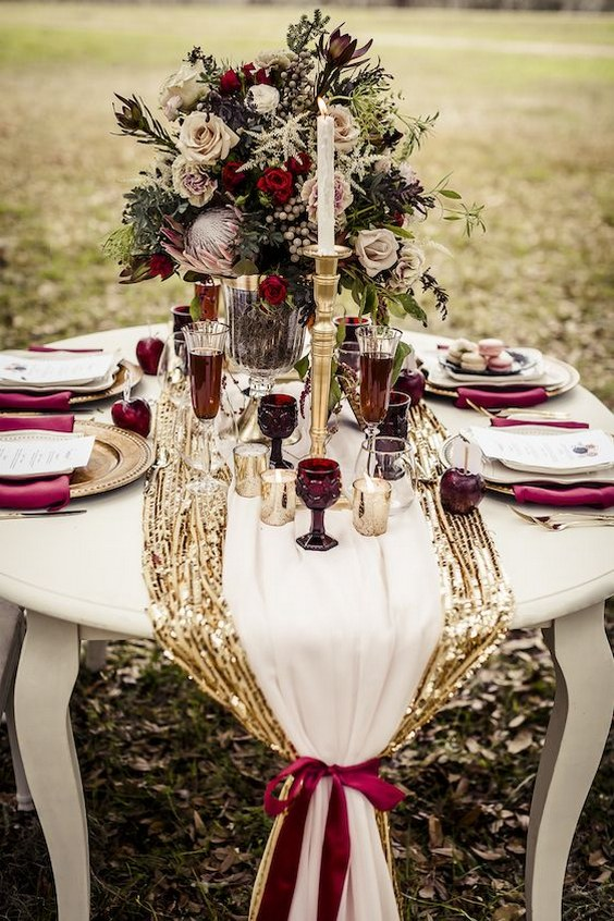 30 Elegant Fall Burgundy and Gold Wedding Ideas  Deer Pearl Flowers
