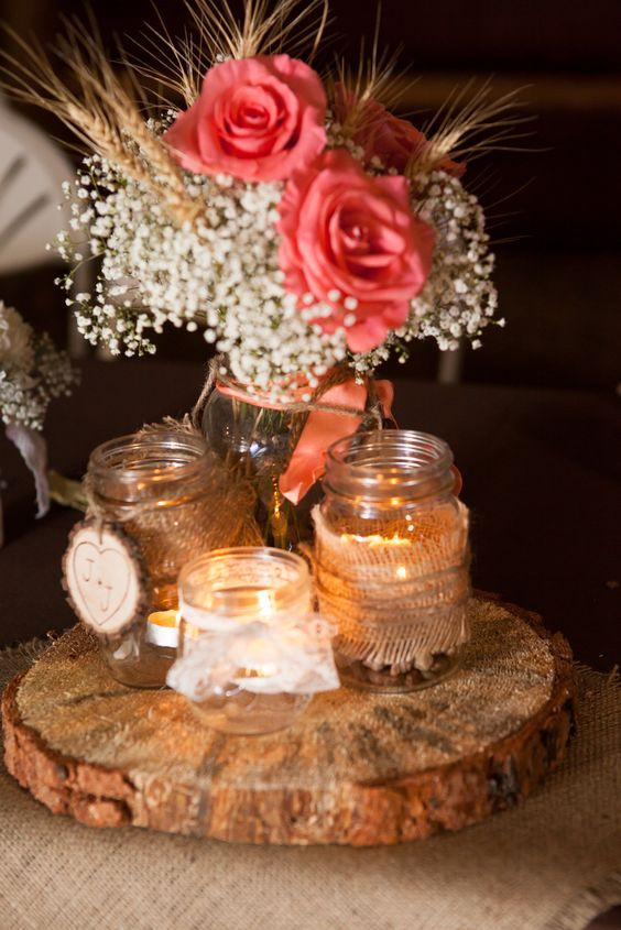 30 Fall Rustic Country Wheat Wedding Decor Ideas  Deer Pearl Flowers