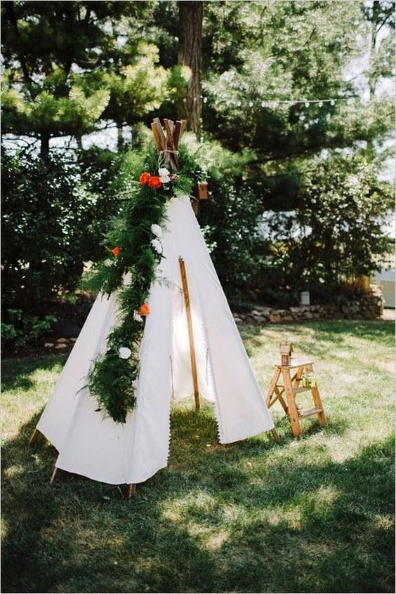 28 Whimsical Bohemian Teepee Wedding Details  Deer Pearl