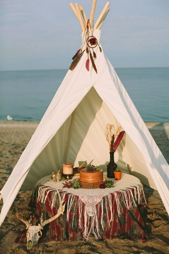 28 Whimsical Bohemian Teepee Wedding Details  Deer Pearl