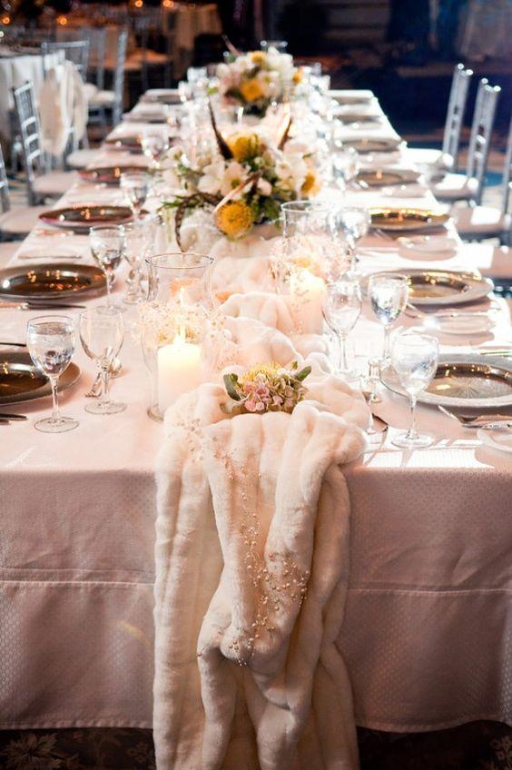 20 Cool Faux Fur Winter Wedding Ideas  Deer Pearl Flowers