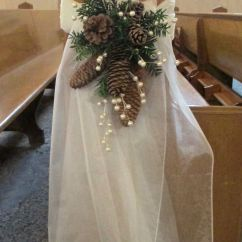 Chairs Wedding Decoration Tobias Chair 25 Budget-friendly Rustic Winter Pinecone Ideas | Deer Pearl Flowers