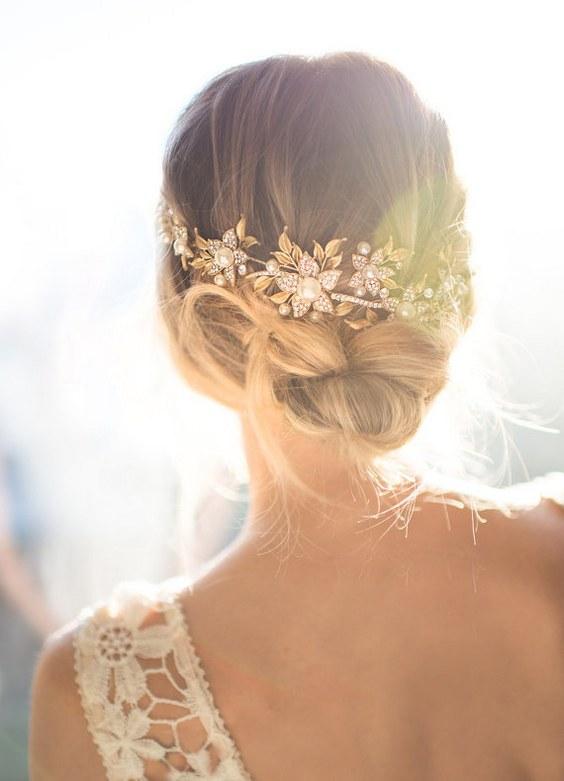 30 Chic Vintage Wedding Hairstyles And Bridal Hair Accessories Deer Pearl Flowers