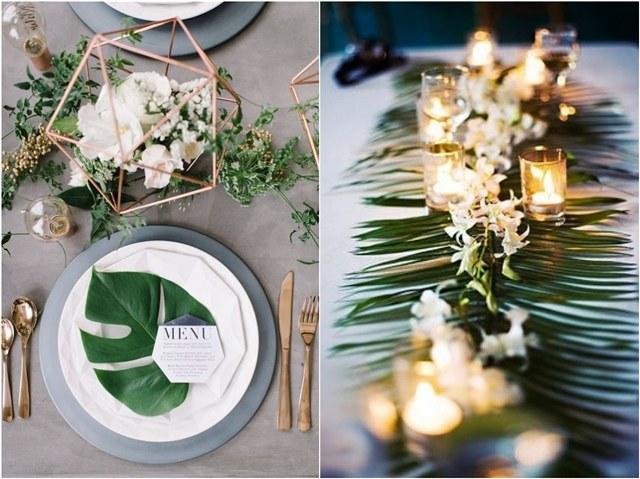 2018 Trend Tropical Leaf Greenery Wedding Decor Ideas  Deer Pearl Flowers